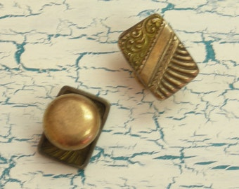 Vintage Antique Embossed Cuff Links Goldfilled 1880s marked PAT. AUG.  2480