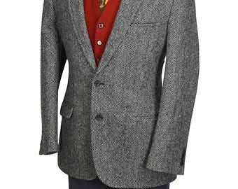 40R Harris Tweed - Brooks Brothers 1818 Exquisitely Tailored Gentry Herringbone Tweed Sport Coat