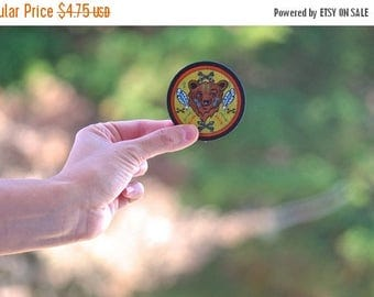 Back To School Sale Sale (FREE US shipping) Bear patch Mountain camping hiker bear spirit animal wildlife embroidered tribal patch merit bad