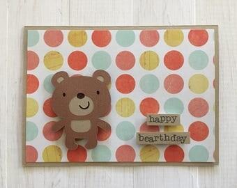 Happy Bearthday Bear Card Birthday