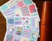 Luna- Inspired Hand Drawn Planner Sticker Kit & Boxes