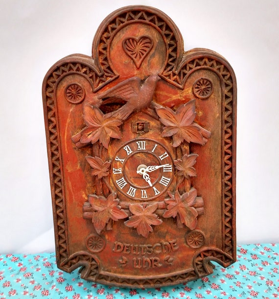 Vintage 1960's General Electric Large Cuckoo Clock Made in West Germany