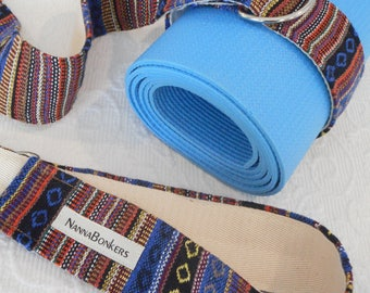 Yoga mat sling - mat carrier - yoga mat carry strap - pure cotton - heavy weight - exercise mat carrier - MEXICAN TEXTILES