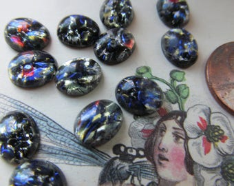 10 Mysterious Black Fire Opals  8x10mm