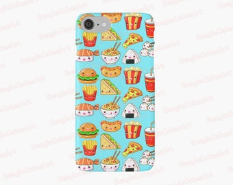 Fast Food Phone Case, Case for iPhone 7, 6, 5, Case for Samsung Galaxy, Kawaii Phone Case, Pizza Phone Case, Hamburger Phone Case, Cute Gift
