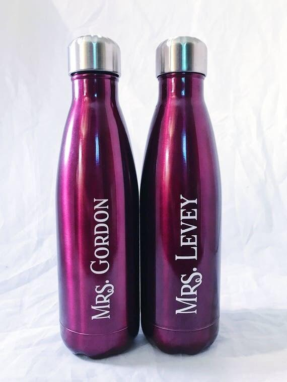 Teacher Gift S'well Bottles -  Initial and Name - Bridesmaids, Yoga, Teacher, Sorority Swell Bottle