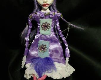 ooak art doll,  violet, liliac
