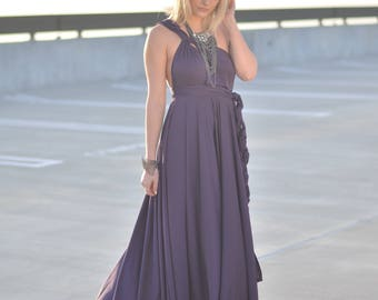 Convertible Infinity Dress with Ballgown Maxi Skirt