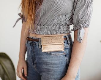 NEW!  Sam Leather Leather Belt Bag. Belt Wallet. Leather Wallet. Simple Leather Wallet. Leather Button Wallet. Business Card Holder