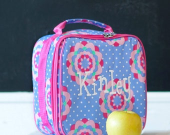 Personalized Lunch Bag ~ Personalized Lunch Tote ~ FREE Personalization ~ Girls Monogrammed Lunch Bag ~ Zoey Lunchbox ~ Quick Shipping!