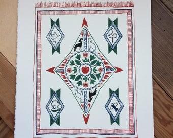 Tapestry Print // Screenprint Original