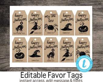 Halloween tags | Etsy