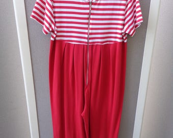 Anita Fradelis All Cotton Red and White Jumper