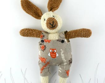 Willy,  crochet bunny, crochet rabbit, crochet toy, Ready to ship