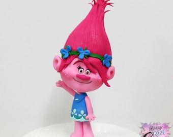 Poppy Trolls Cake Topper (Polymer Clay Sculpture)
