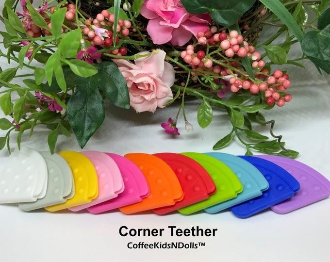 Corner Teether // Sew In Teether // Silicone Teether // Teething Toy // Toy Making // Baby Teething // Handmade