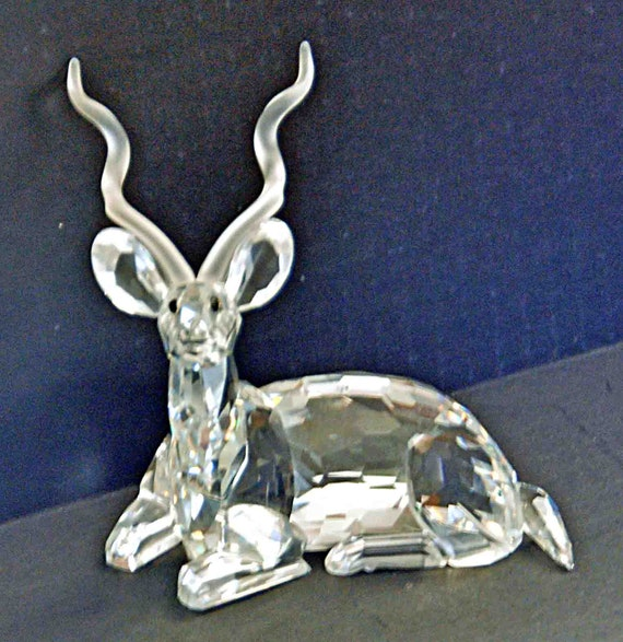 "Vintage SWAROVSKI ""KUDU"" CRYSTAL S C S 1994 Annual Figurine 'Inspiration Africa' D01X941 / 175 703, No Box, Exc Condition"