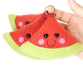 Watermelon Keychain, Watermelon Keyring, Watermelon Bag Charm, Watermelon Charms, Cute Kawaii Watermelon, Watermelon Accessory, Fruit Charm