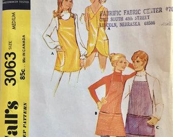 Vintage 1971 McCall's Misses' Apron Pattern 3063 Size Medium