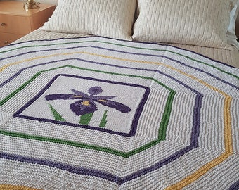 "Blanket/throw (""Iris Afghan"") knitting pattern (PDF)"