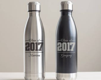 Personalized Graduation Water Bottle: Engraved Graduation Water Bottle, Personalized Graduation Gift, Unique Graduation Gift  SHIPS FAST