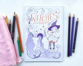 Witches Colouring Book by Michelle Beech // 16 pages - A5 size