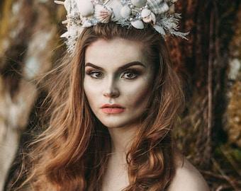 Mermaid Crown - Shell Crown - Festival Crown - Bridal Crown - Bridal Headpiece - Mermaid Costume.