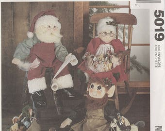 Holiday Doll Pattern McCalls 5019 Uncut