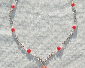 Pink Gemstone Beaded Pet Necklace Jewelry