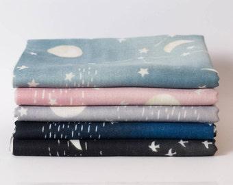 Fat quarter bundle - Kokka Japanese double gauze constellation fabric