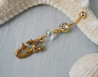 Mermaid Belly Ring / Belly Button Ring / Belly Ring / Navel Ring / Belly Button Jewelry / Mermaid Jewelry / Festival Jewelry / Beach Jewelry