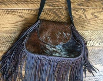 Cowhide purse, hair on hide curse, handbag, shoulder bag, western bag, western purse,