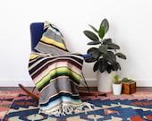 Vintage Mexican Saltillo Serape Blanket - Beautiful Southwestern Textile