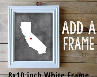 Add a Frame- Add an 8x10 inch White Frame to your 8x10 inch print. Personalized Map Gift. Free Gift Note. Ship Direct to Gift Recipient.
