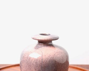 Otto Keramik vase - West German pottery - Fat Lava vase 1970s - mid century modern minimalist pastel pink retro decor - space age ceramics