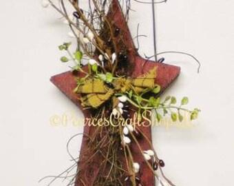 Primitive Star Ornament, Wood Stars, Star Accents, Country Farmhouse Decor