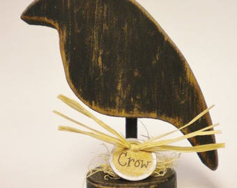 Crow Make Do - Made To Order, Wood Crows, Primitive Crows, Crow Decorations, Handmade Crows, Country Farmhouse Decor