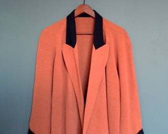 Vintage Duster / Oversized Blazer Burnt Umber / Slouchy Casual Duster Jacket
