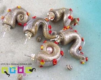 Fake Gauges Tentacle Earrings - Celebrate