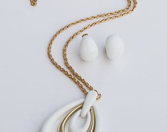 Vintage Jewelry Set, Demi Parure, 1970s Plastic and Gold Jewelry, Jewelry Set, 1970s Jewelry, Retro Jewelry, Vintage Jewelry