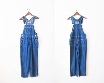Women Denim Overalls / Overalls Small / 90s Overalls / Blue Jean Overalls / Vintage Overalls / 90s Clothing / 90s Jumpsuit / Denim Coveralls