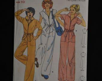 Misses' Jumpsuit - Size 10 - UNCUT - Butterick 5889