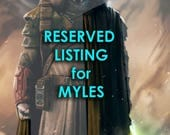 RESERVED LISTING for Myles Wilson