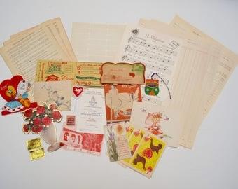 Vintage Valentines Ephemera Pack for Junk Journal / Snail Mail / Scrapbook