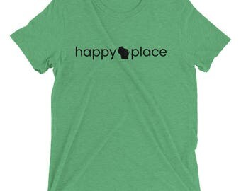 Happy Place Wisconsin Short sleeve t-shirt