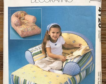 UNCUT Child Size Chair, Chaise Lounge, Loveseat Sewing Pattern McCall's 4120