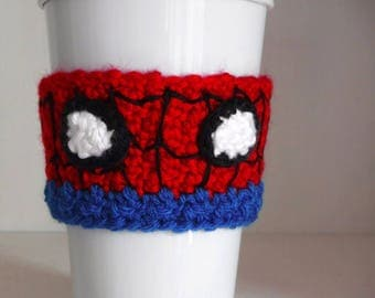 Crochet Spider-Man Coffee Cup Cozy