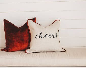 """Christmas """"Cheer"""" Pillow Cover"""