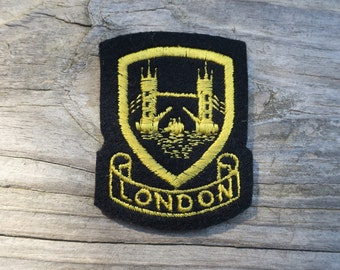 Vintage Embroidered London England Travel Patch