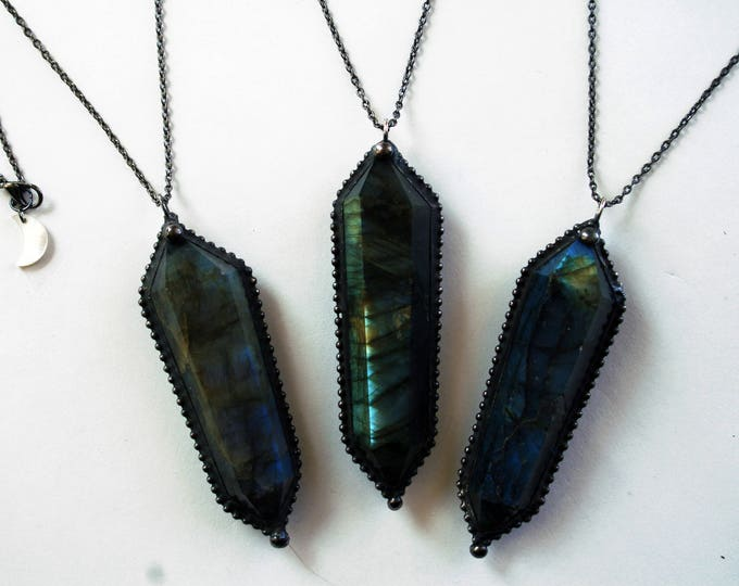 Large Labradorite Double Terminated Crystal Necklace